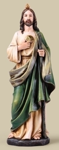 Statue St Jude Thaddeus 14 inch Resin Painted