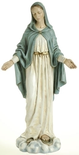 Statue Mary Our Lady Grace 23.5 inch Resin Painted