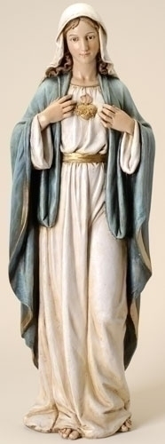 Statue Mary Immaculate Heart 37 inch Resin Painted