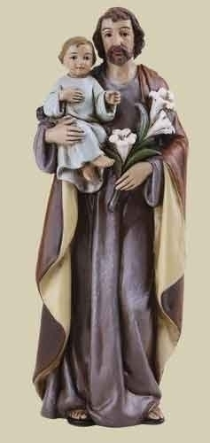 Statue St Joseph 4 inch Resin Painted