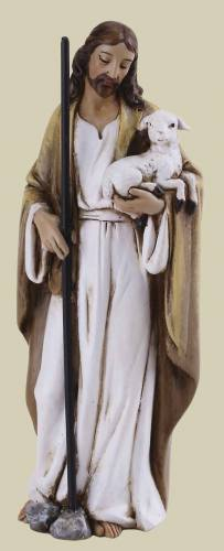 Statue Jesus Good Shepherd 4 inch Resin Painted