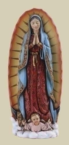Statue Mary Our Lady Guadalupe 4 inch Resin Painted