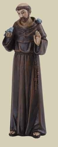 Statue St Francis Assisi 4 inch Resin Painted