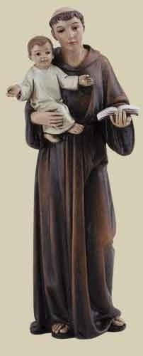 Statue St Anthony Padua 4 inch Resin Painted