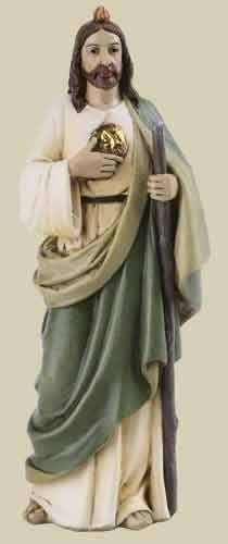 Statue St Jude Thaddeus 4 inch Resin Painted