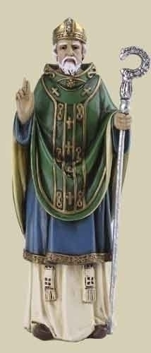 Statue St Patrick 4 inch Resin Painted