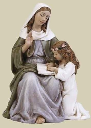 Statue St Anne 2.75 inch Resin Painted