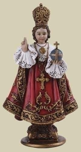 Statue Jesus Infant Child Prague 4 inch Resin Painted