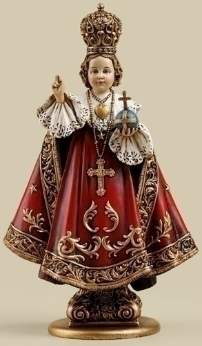Statue Jesus Infant Child of Prague 6 inch Resin Painted