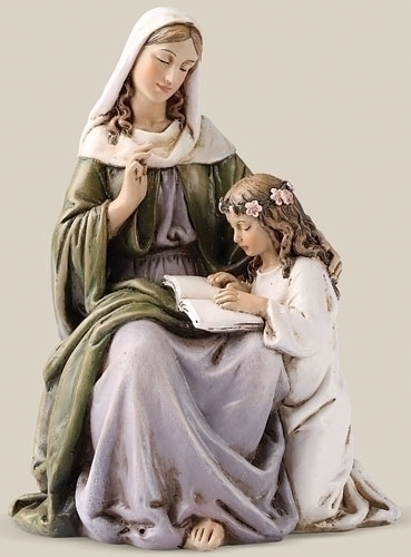 Statue St Anne 4.5 inch Resin Painted
