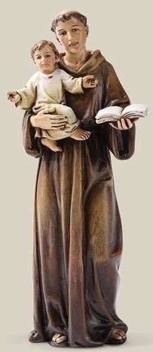 Statue St Anthony Padua 6.25 inch Resin Painted