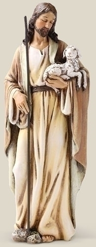 Statue Jesus Good Shepherd 6.25 inch Resin Painted