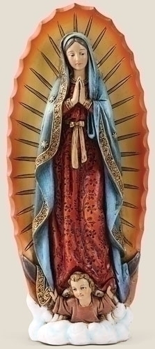 Statue Mary Our Lady Guadalupe 7.25 inch Resin Painted