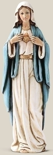 Statue Mary Immaculate Heart 6 inch Resin Painted