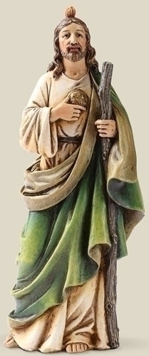 Statue St Jude Thaddeus 6.5 inch Resin Painted