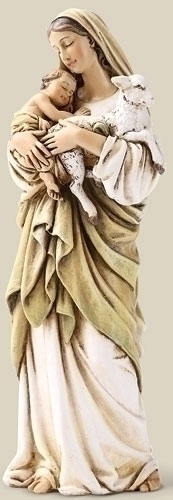 Statue Mary L'Innocence Madonna & Child 6.25 inch Resin Painted