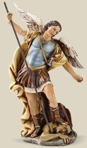 Statue St Michael Archangel 7.25 inch Resin Painted