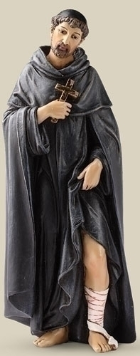 Statue St Peregrine 6.25 inch Resin Painted