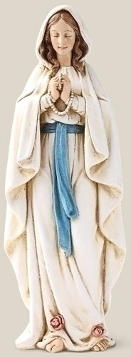 Statue Mary Our Lady Lourdes 6.25 inch Resin Painted