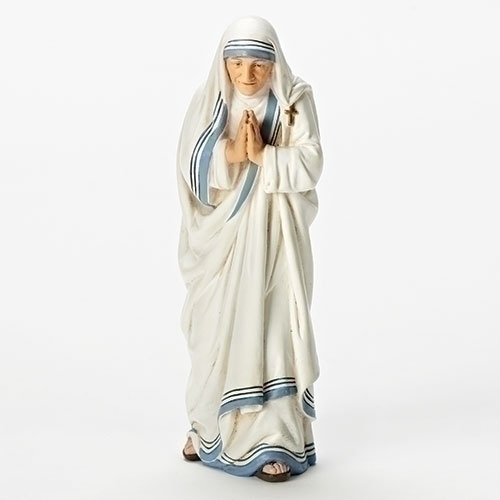 Statue St Mother Teresa Calcutta 5.5 inch Resin Painted