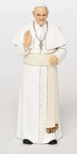 Statue Pope Francis 6.25 inch Resin Painted