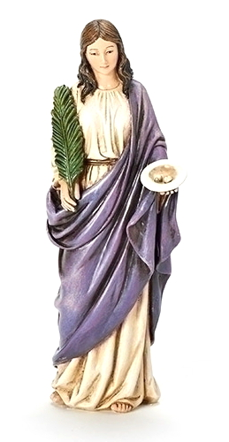 Statue St Lucy 6 inch Resin Painted
