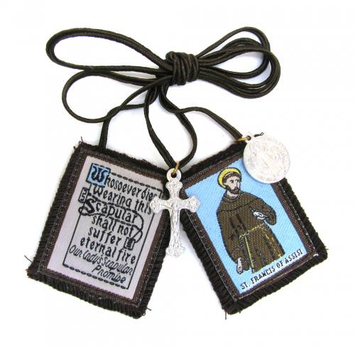 Scapular Brown Carmel St Francis of Assisi 100% Wool