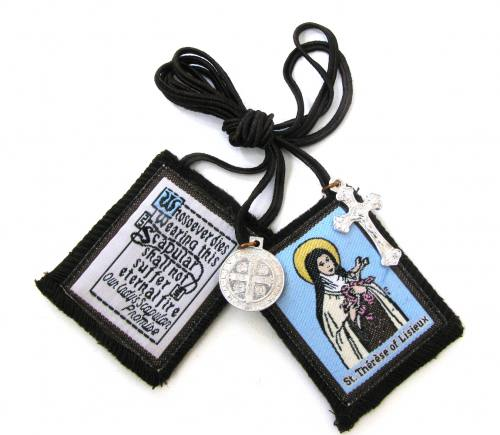 Scapular Brown Carmel St Therese of Lisieux 100% Wool